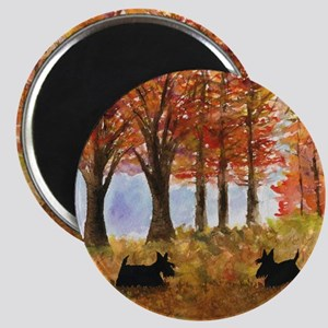 Autumn Scottie Dogs Magnet
