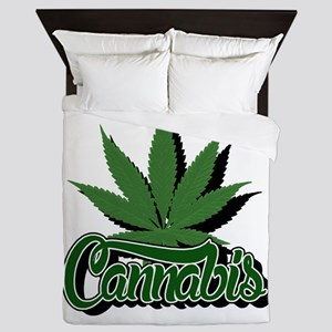 Cannabis with Leaf Queen Duvet