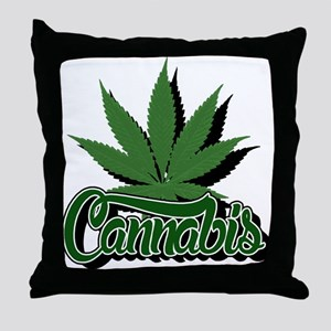 Cannabis with Leaf Throw Pillow