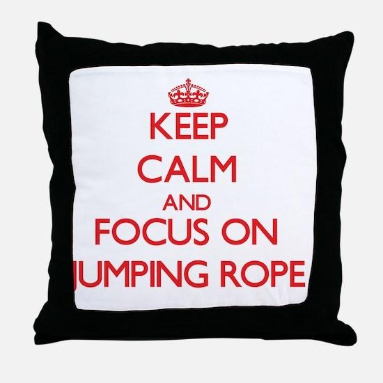 Cute Jump rope Throw Pillow