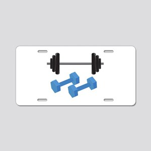 Weight Lifting Aluminum License Plate