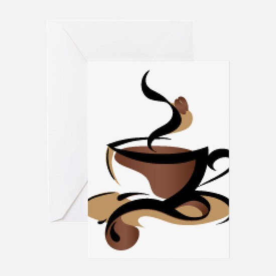 Coffee Time Greeting Cards