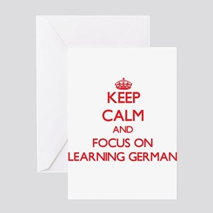 German language greeting cards cafepress keep calm and focus on learning german greeting ca m4hsunfo