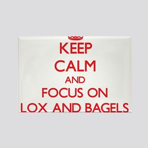 Keep Calm and focus on Lox And Bagels Magnets