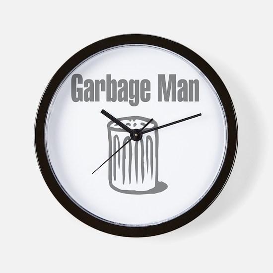 Garbage Man Wall Clock