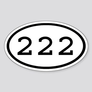 222 Oval Oval Sticker