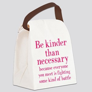 BE KINDER Canvas Lunch Bag