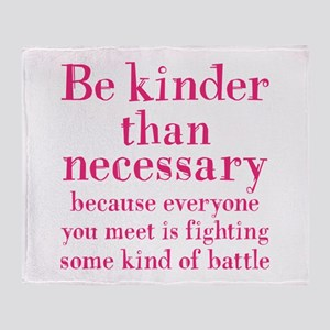 BE KINDER Throw Blanket