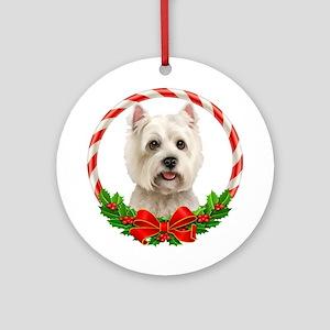 Westie Ornament (Round)