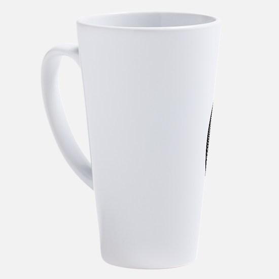 Square mokko in circle 17 oz Latte Mug