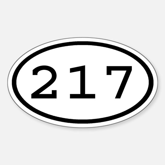 217 Oval Oval Decal