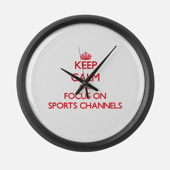 Unique Fox sports Large Wall Clock