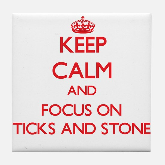 Cute Sticks and stones Tile Coaster