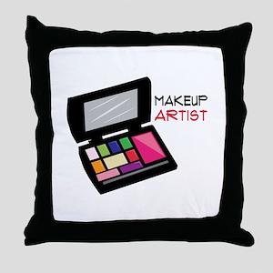 Makeup Artist Throw Pillow