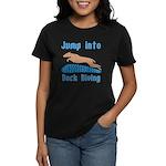 Jump Into Diving Dogs Women's Dark T-Shirt