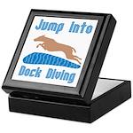 Jump Into Diving Dogs Keepsake Box