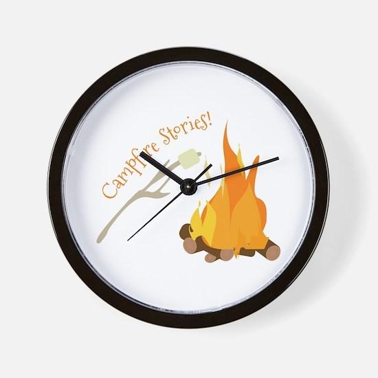 Campfire Stories! Wall Clock