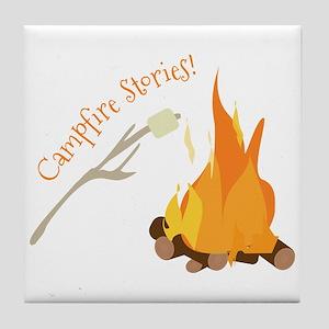 Campfire Stories! Tile Coaster