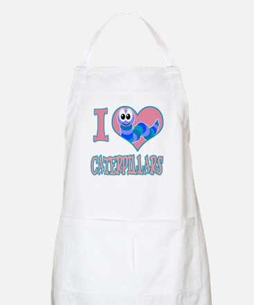 I Love (Heart) Caterpillars BBQ Apron