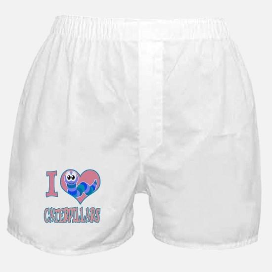 I Love (Heart) Caterpillars Boxer Shorts