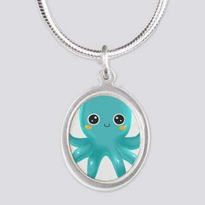 Cute Blue Octopus Necklaces