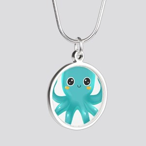 Cute Blue Octopus Necklaces