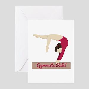Gymnasts Rule! Greeting Cards