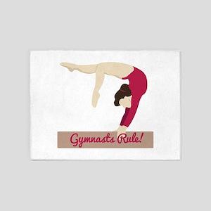 Gymnasts Rule! 5'x7'Area Rug