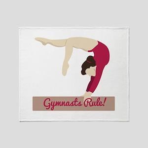 Gymnasts Rule! Throw Blanket