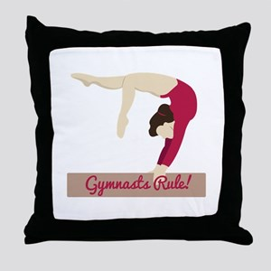 Gymnasts Rule! Throw Pillow