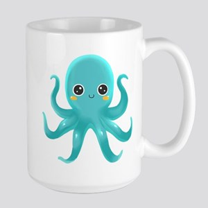 Cute Blue Octopus Mugs