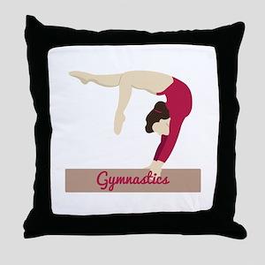 Gymnastics Throw Pillow