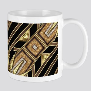 Art Deco Black Gold 1 Mugs