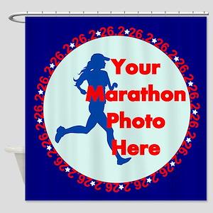Marathon Runner Photo Shower Curtain