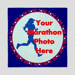 Marathon Runner Photo Queen Duvet