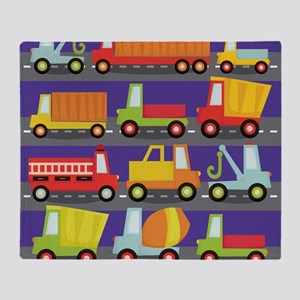Trucks On The Highway Throw Blanket