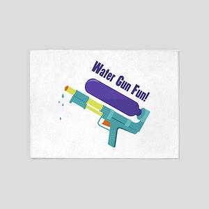 Water Gun Fun 5'x7'Area Rug
