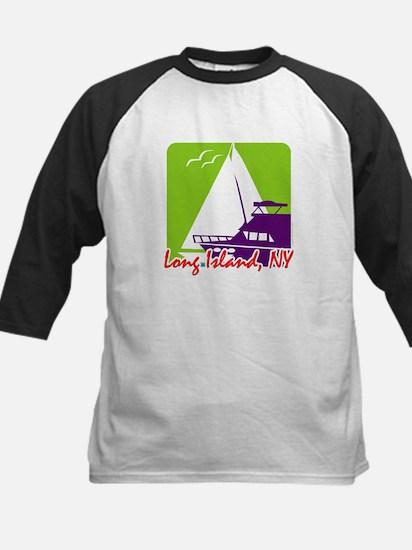Sailing Long Island Kids Baseball Jersey