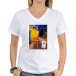Cafe & Bolognese Women's V-Neck T-Shirt