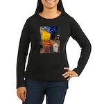 Cafe & Bolognese Women's Long Sleeve Dark T-Shirt