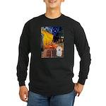 Cafe & Bolognese Long Sleeve Dark T-Shirt
