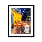 Cafe & Bolognese Framed Panel Print