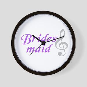 Bridesmaid(clef) Wall Clock