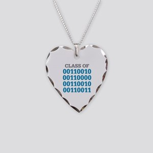 Class of 2023 Binary Necklace Heart Charm