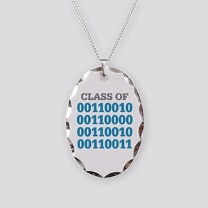 Class of 2023 Binary Necklace Oval Charm