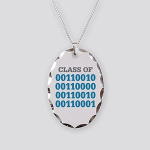 Class of 2021 Binary Necklace Oval Charm