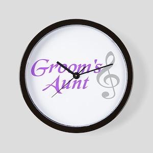 Groom's Aunt(clef) Wall Clock