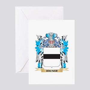 Hauser Coat of Arms - Family Crest Greeting Cards