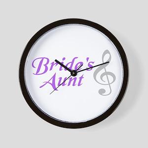 Bride's Aunt(clef) Wall Clock