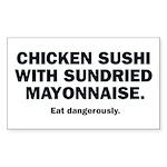 Chicken Sushi Rectangle Sticker